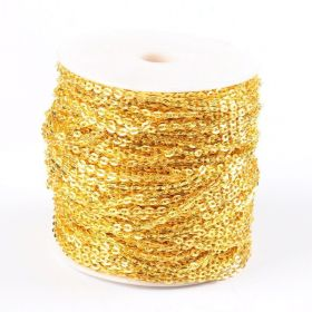 Řetízek metráž 2,7x4 mm, 1m, zlatá barva