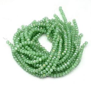 Slavík 6x4 mm, 92 ks, ledová zelená s lustrovým pokovem