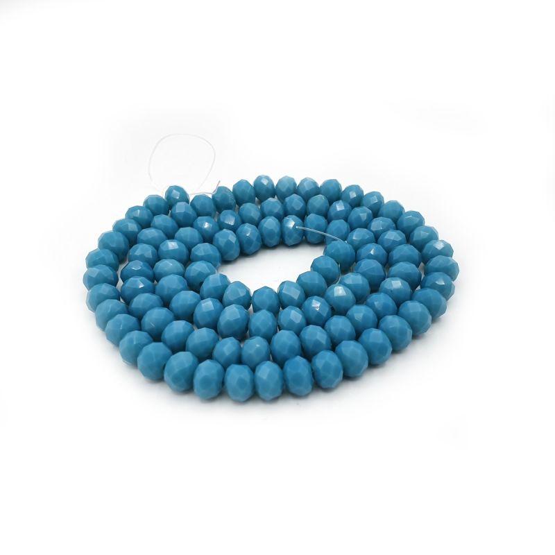 Slavík 6x4 mm, 93 ks, plnobarevná modrá