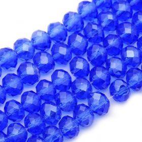 Slavík 6x4 mm, 98 ks, modrá s lustrovým pokovem