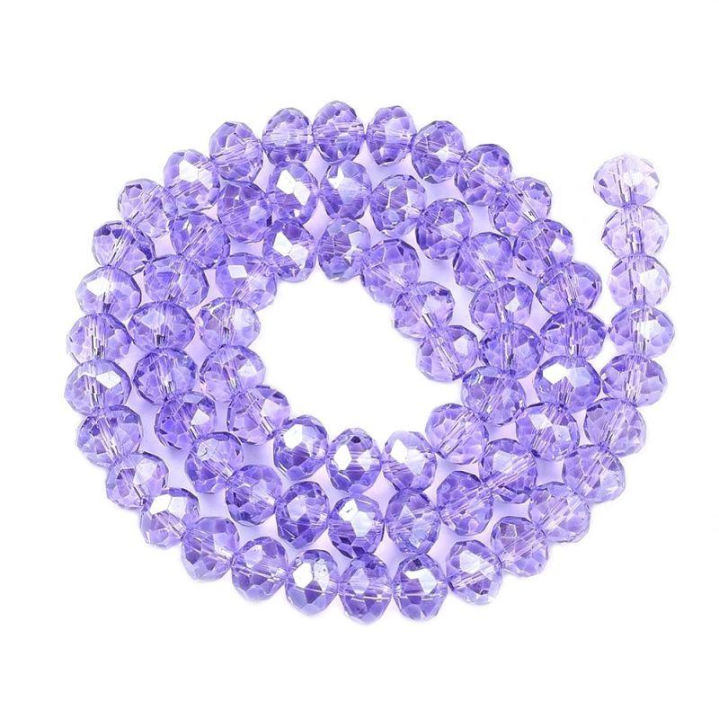 Slavík 6x4 mm, 99 ks, lila fialová s lustrovým pokovem