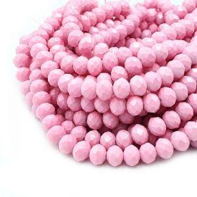 Slavík 8x6 mm, 68 ks, plnobarevná růžová