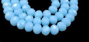 Slavík 8x6 mm, 69 ks, mléčná modrá