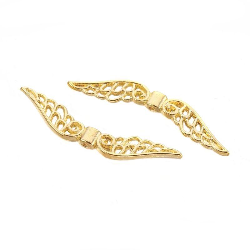 Velká andělská křídla 51x14x4, 20 ks, zlatá barva