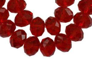Slavík 6x4 mm, 90 ks, červená s lustrovým pokovem