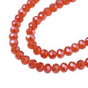 Slavík 6x4 mm, 93 ks, tmavě oranžová s AB pokovem