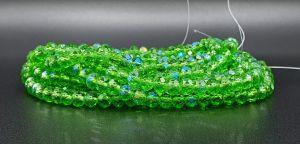 Slavík 8x6 mm, 67 ks, zelená s duhovým pokovem