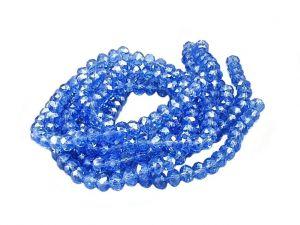 Slavík 8x6 mm, 68 ks, modrá s lustrovým pokovem