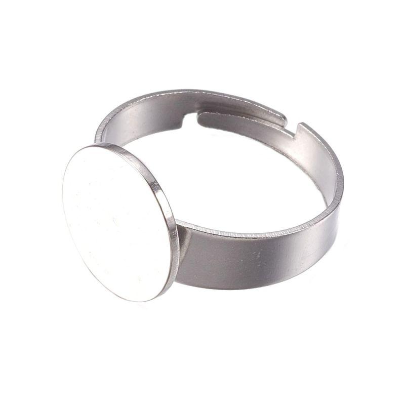 Prsten s ploškou k nalepení 12 mm, chirurgická ocel 304