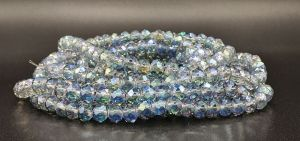 Slavík 6x4 mm, 91 ks, světle modrá s duhovým pokovem