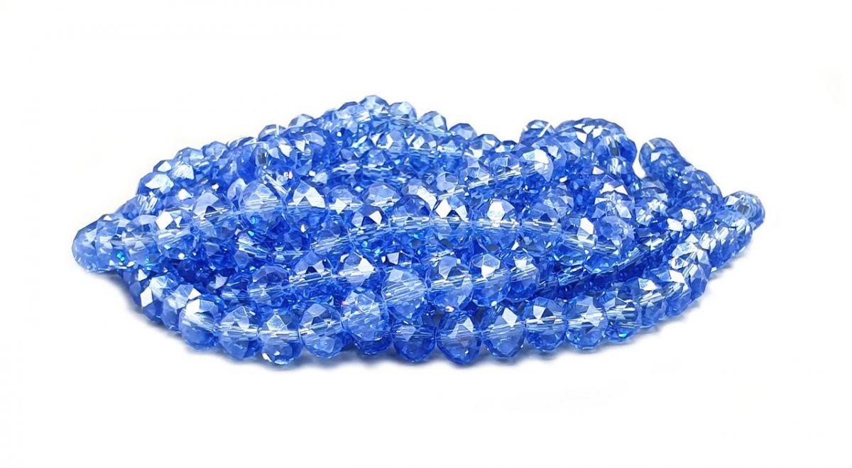 Slavík 6x4 mm, 94 ks, modrá s lustrovým pokovem