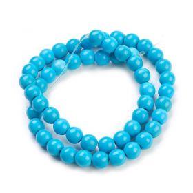Syntetický tyrkys, kulička 8 mm, 50 ks, modrá