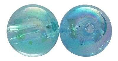 Akrylové korálky 4 mm,100 ks, průhledné modré s AB pokovem