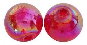 Akrylové korálky 6 mm,50 ks,červené