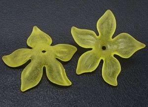 Akrylový květ 27 mm ,20 ks - žlutá