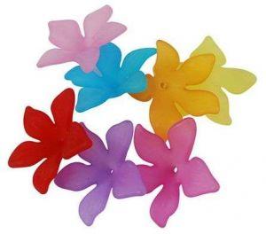 Akrylový květ  29 mm, 20 ks, mix barev
