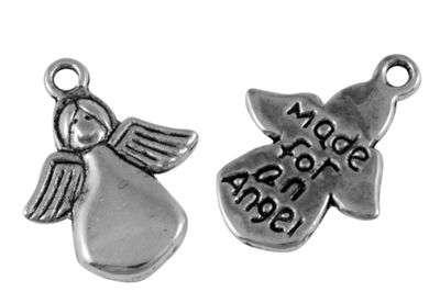 Andělíček 18 mm, 20 ks, starostříbro