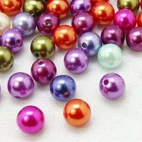 Imitace perel 8 mm,50 ks,mix barev