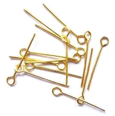 Ketlovací nýt 20 mm,100 ks,zlatá