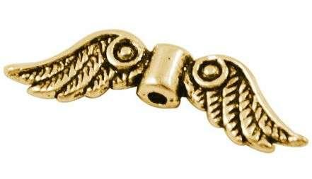 Křídla anděla, 23x7 mm, antik zlatá