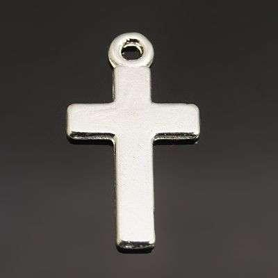 Křížek 24x13 mm, 20 ks, stříbrný