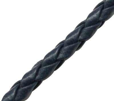 Námořnická modrá PU kůže 3 mm - 1 m