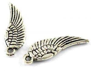 Přívěsek křídlo malé 17 mm, 20 ks, strarostříbro