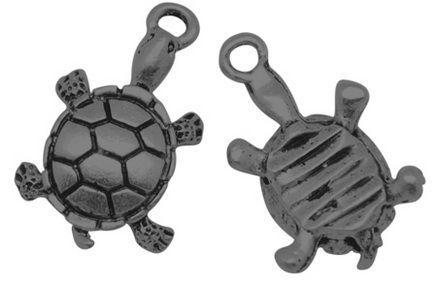Přívěsek želva 19 mm, černá
