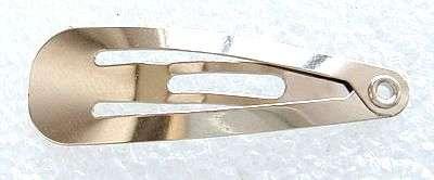Prolamovací sponka 49x13 mm,20 ks,platinová