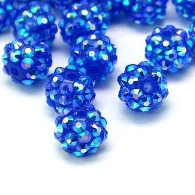 Šatonová kulička 12 mm - modrá