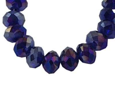 Slavík 6x4 mm,tmavě fialová,95 ks