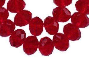 Slavík 8x6 mm, 72 ks, červená