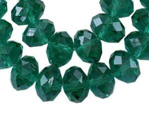 Slavík 8x6 mm, 72 ks, tmavě zelená s lustrovým pokovem