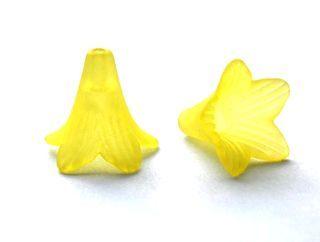 Akrylový zvonek dlouhý žlutý