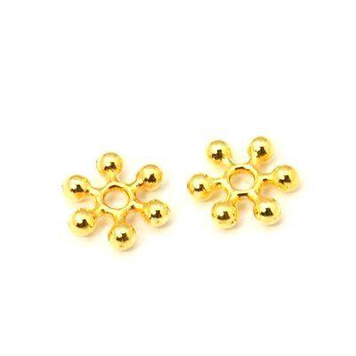 Květ s rameny 8 mm, 100 ks, zlatá