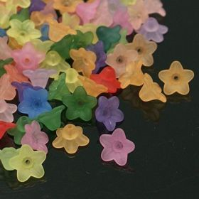 Mini zvonky matné 50 ks,mix barev