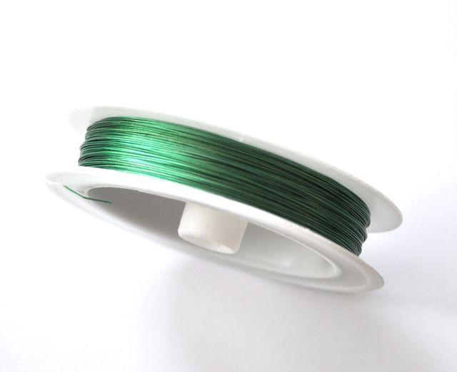 Nylonové lanko 0,45 mm, 50 m, zelená