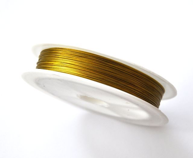Nylonové lanko 0,45 mm, 50 m, zlatá