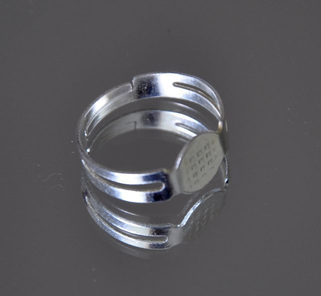 Polotovar prsten s ploškou 8 mm 20 ks, platinová