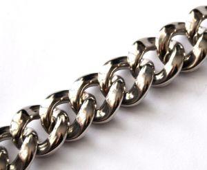 Řetězový článek 23x22 mm, 10 ks, starostříbrná