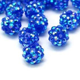 Šatonová kulička 10 mm - modrá