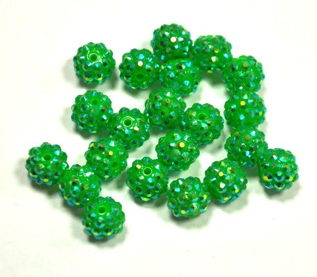 Šatonová kulička 12 mm - zelená
