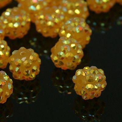 Šatonová kulička 12 mm - žlutá