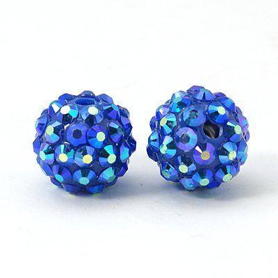 Šatonová kulička 14 mm - modrá