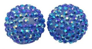 Šatonová kulička 16 mm - modrá