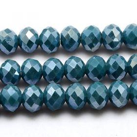 Slavík 4x3 mm, 138 ks, modrozelená