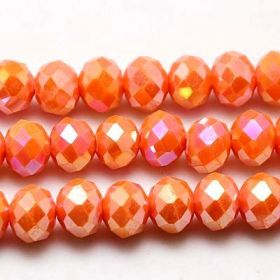 Slavík 8x6 mm, plnobarevné, oranžová AB, 72 ks