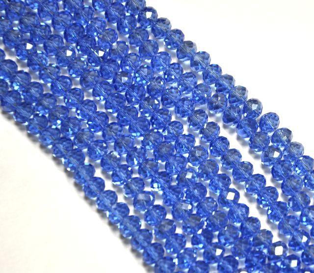 Slavík 8x6 mm, světle modrá, 72 ks