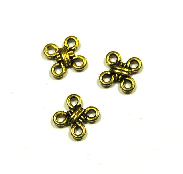 Spojovací díl 10 mm, 20 ks, antik zlatá