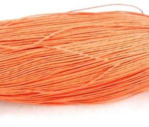 Voskovaná šňůra 0,7 mm, 1 m, oranžová